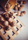 Walnuts with shell Stock Photo