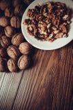 Walnuts with shell Stock Photo