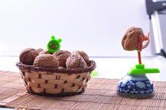 Walnuts with shell Royalty Free Stock Photo