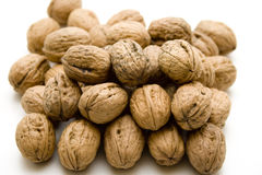 Walnuts stacked Royalty Free Stock Image