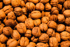 Walnuts on store shelves Stock Photos