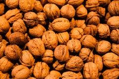 Walnuts on store shelves Stock Photos