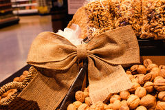 Walnuts on store shelves Stock Image