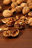 Walnuts on table. Stock Image