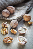 Walnuts On A Table Royalty Free Stock Images