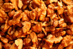 Walnuts on the table Royalty Free Stock Photography