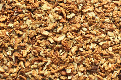 Walnuts texture. Walnuts background: directly above view royalty free stock image