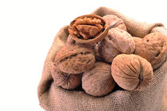 Walnuts in the tissue sac Stock Image