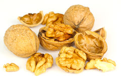 Walnuts, tree nuts Royalty Free Stock Photos