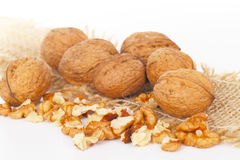 Walnuts, tree nuts Stock Image