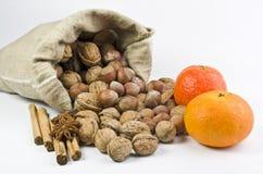Walnuts und spice Stock Image