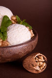Walnuts and vanilla Royalty Free Stock Images