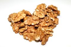 Walnuts. On white background stock images