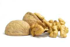 Walnuts on white. Walnuts on a white background Stock Image