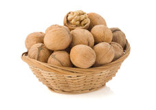 Walnuts on white Royalty Free Stock Images
