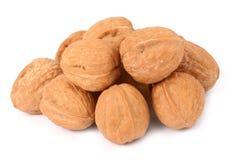 Walnuts on white Stock Photos