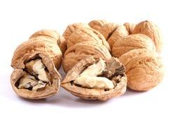 Walnuts on white Stock Image