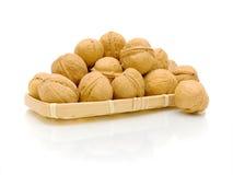 Walnuts on white background Royalty Free Stock Image