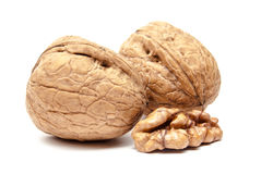 Walnuts  on white. Walnuts  on a white background Stock Images