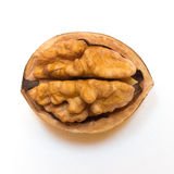 Walnuts on a white background. A walnuts on a white background Royalty Free Stock Photos