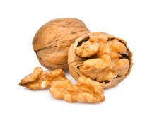 Walnuts  on white Royalty Free Stock Photography