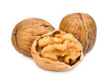 Walnuts  on white Royalty Free Stock Photos