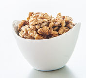 Walnuts  on white background. Royalty Free Stock Images