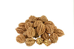 Walnuts White Background Stock Photo