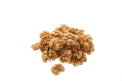Walnuts on a white background Stock Image