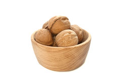 Walnuts on the withe background in study Stock Photo