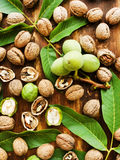 Walnuts on wood Royalty Free Stock Photography