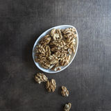 Walnuts on  wooden table. Stock Photography