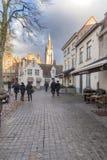 Walplein fyrkantiga byggnader Bruges Royaltyfria Foton