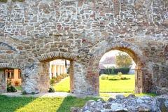 walpole Ruiny średniowieczny cistercian opactwo w Transylvania , Rumunia fotografia royalty free