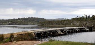 Walpole wpust z Jetty: Zachodnia Australia fotografia royalty free