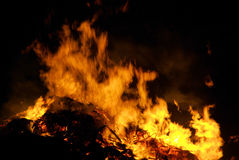 Walpurgis Night bonfire Stock Image