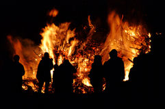 Walpurgis Night bonfire royalty free stock photo