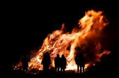 Walpurgis Night bonfire Stock Images