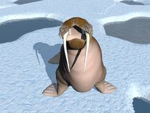 Walrus mouth - 3D render Royalty Free Stock Photos