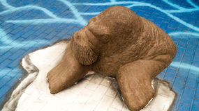 Walrus sculpture Royalty Free Stock Image