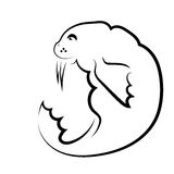 Walrus Symbol Royalty Free Stock Images