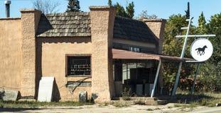 No clue. Walsenburg, CO/USA - September 8, 2016: A nondescript business in Walsenburg, Colorado Stock Photo