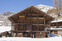 Walser mountain house Stock Image