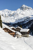 Walser village Cuneaz, Ayas valley (Italy) Royalty Free Stock Image