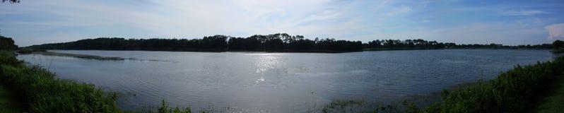 Walshinham Lake Panorama. Panorama view of a lake, pristine and peaceful royalty free stock image