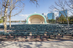 Walt Disney Amphitheatre. The Walt Disney Amphitheatre is an outdoor venue at Lake Eola in downtown Orlando, Florida stock image