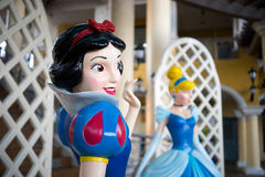 Walt Disney character Cinderella. A Walt Disney character model on display in a public place. This character is Cinderella from Cinderella movie royalty free stock images