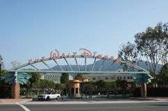 The Walt Disney Co. Studios. Entrance to The Walt Disney Co. Studios in Burbank California Stock Images