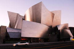 Walt Disney Concert Hall. Designed by Frank Gehry.  This iconic and modern architecture is very distinctive in Los Angeles Royalty Free Stock Photography