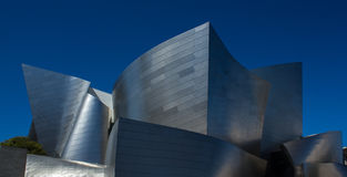 Walt Disney Concert Hall. Designed by Frank Gehry, in Los Angeles, California Royalty Free Stock Photos